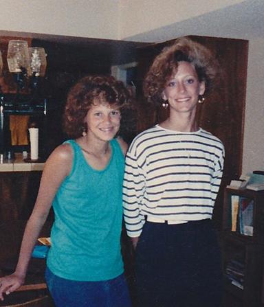 Mary's 80s hair